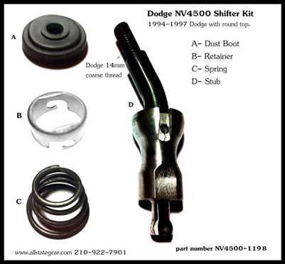 Nv4500 Transmission For Sale >> NV4500 Shifter Stub Kit, Dodge, NV4500-119B - Dodge ...